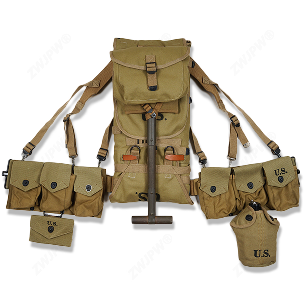 Climbing Bags Type Straps Six Cell Pouch Ww2 Us Army Equipment M36 Bag Belt First Aid Kit And 0.8l Kettle X